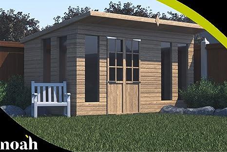 Bernard 8 x 8 - Caseta, taller, garaje de jardín de madera resistente