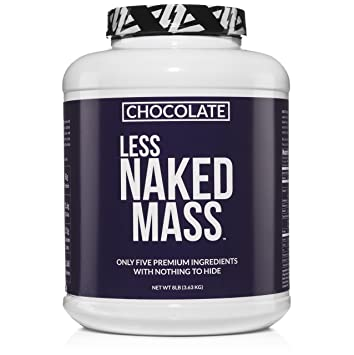 Chocolate less naked mass Weight Gainer Protein Powder