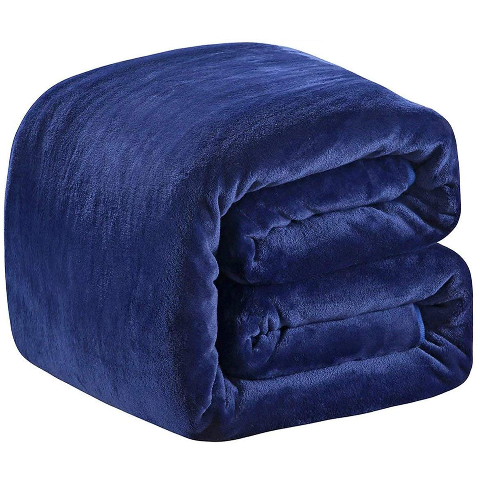 Fleece Blanket Twin Size 350GSM Lightweight Throw for The Bed Extra Soft Brush Fabric Super Warm Sofa Blanket 66 x 90(Royal Blue Twin)
