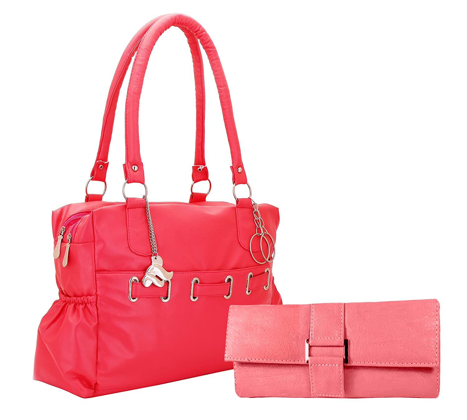 Lady Bar Stylish Shoulder Bag(Pink-Peach)