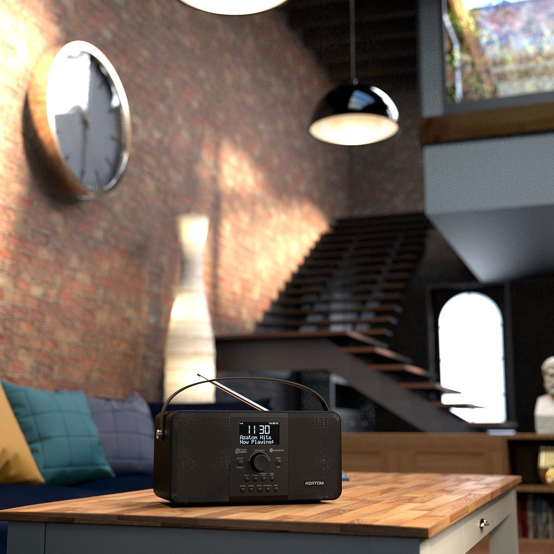 AZATOM Multiplex DAB Radio FM digital Batería Bluetooth Despertador: Amazon.es: Electrónica