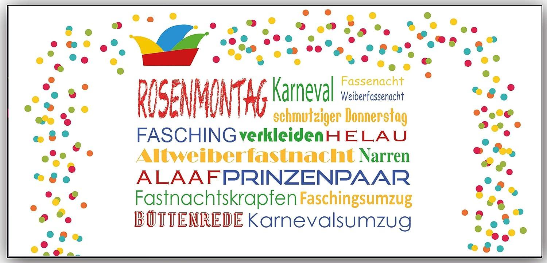 Einladungskarten Karneval Fasching Erwachsene Kindergeburtstag Jungen  Mädchen: Amazon.de: Bürobedarf U0026 Schreibwaren