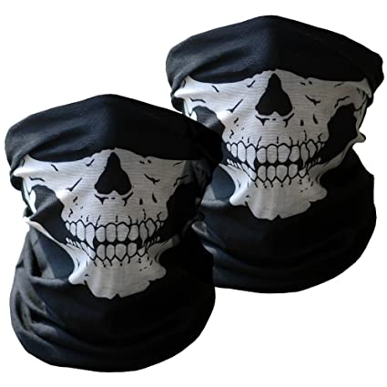 amazon com motorcycle face masks 2 pieces xpassion skull mask half