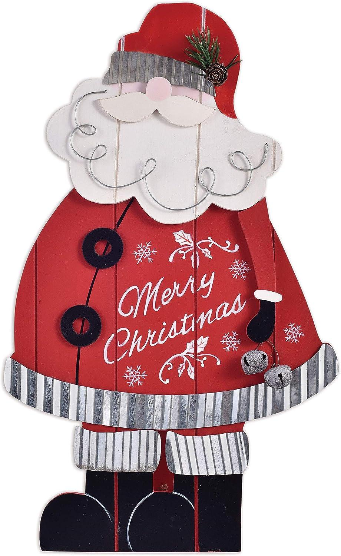 Sunset Vista Designs Wooden Tabletop Decor - Downhome Christmas, 16-Inch, Merry Christmas Santa