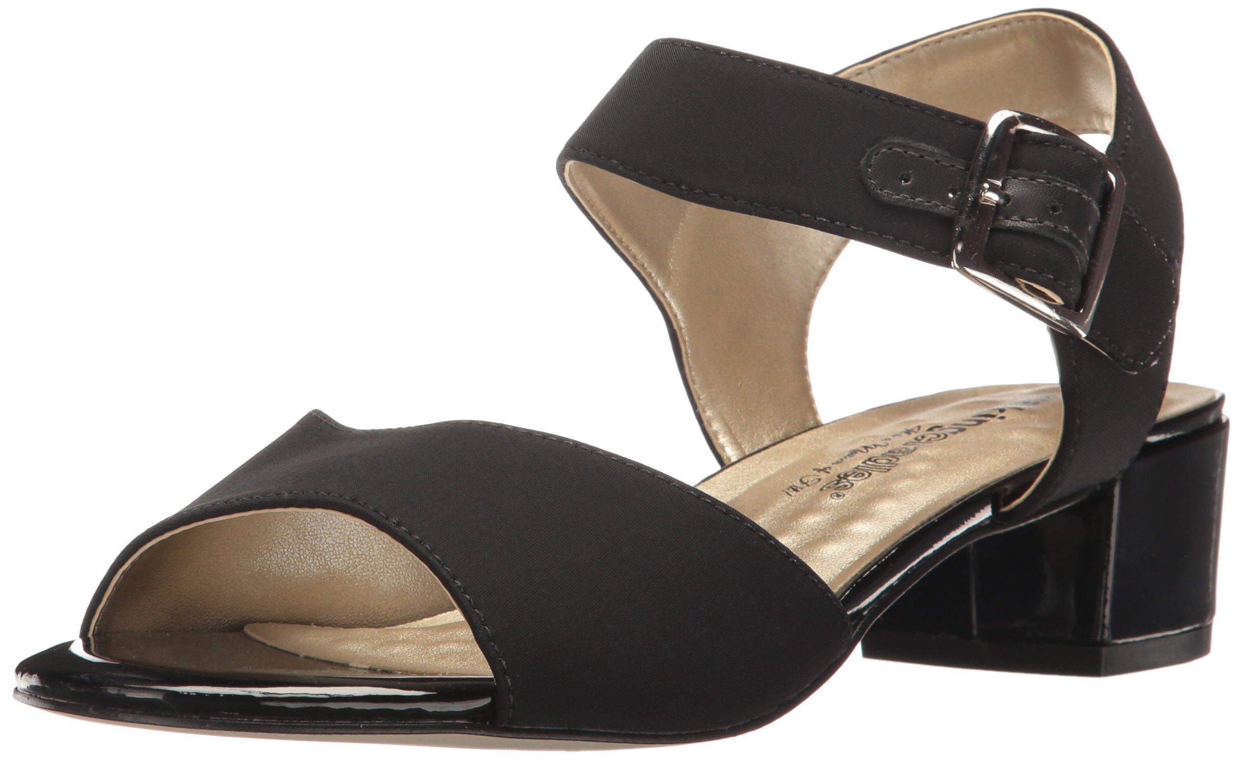Walking Cradles Women's Macau Heeled Sandal, Black, 9.5 M US