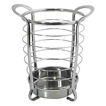InterDesign Axis Utensil, Spatula, Silverware Holder For Kitchen Countertop  Storage   Chrome