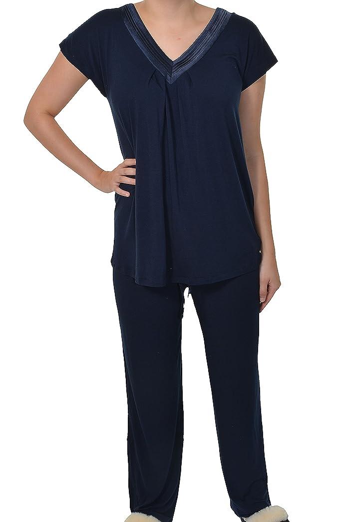 Carole Hochman Midnight Pajama Set (Navy, Small) at Amazon Womens Clothing store: