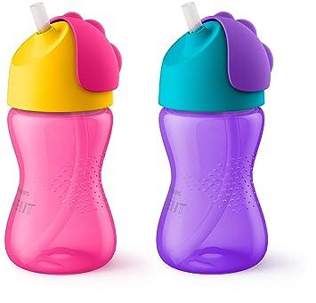 2 Ct Pink//Purple SCF792//20 10 Oz Philips Avent My Bendy Straw Cup 12m