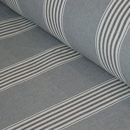 Espiga de algodón tradicional gris tela de la raya de marzo ...