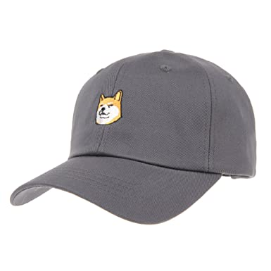 WITHMOONS Baseball Cap Shiba Inu Dog Embroidery Cotton Hat KR1304 (Grey) 858affec47e