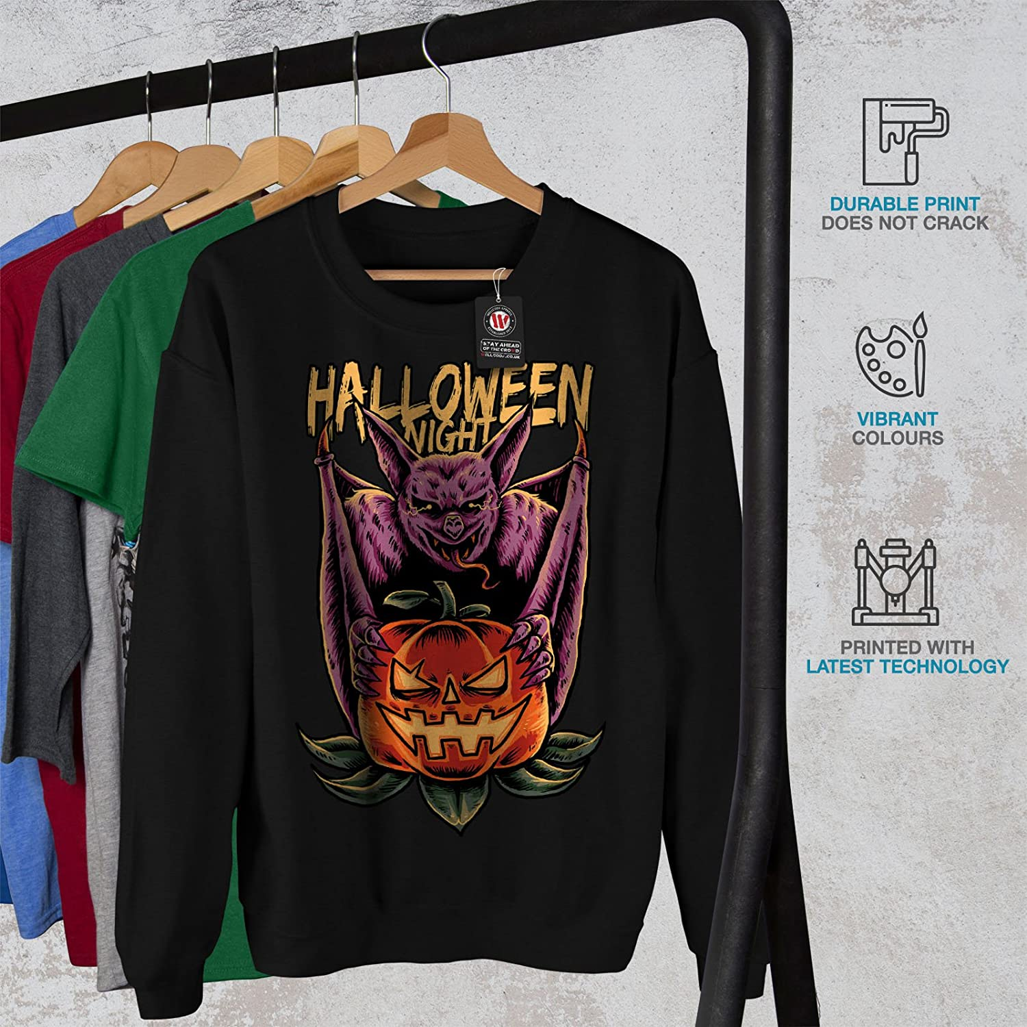 Pumpkin Head Casual Jumper wellcoda Halloween Mens Sweatshirt