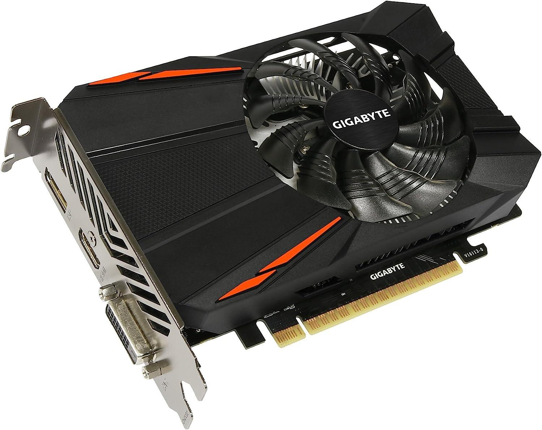 Gigabyte GeForce GTX 1050,/2/GB Grafikkarte schwarz 2 GB GV-N1050D5/–2GD