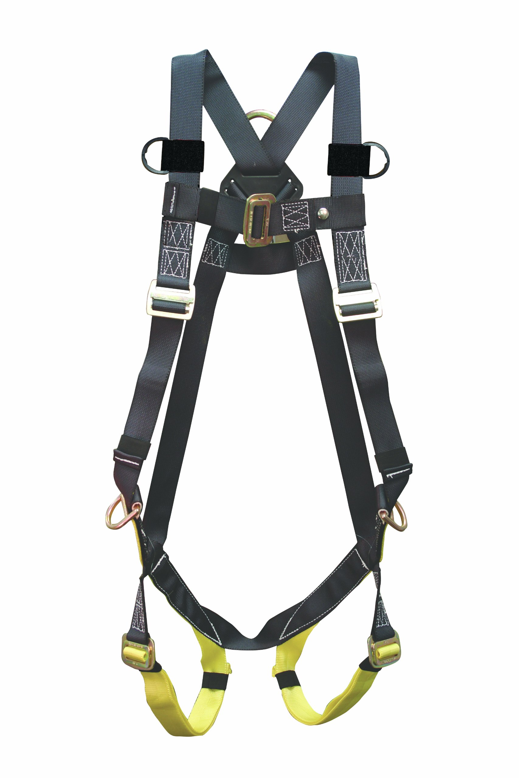 Elk River 42309 Universal Polyester/Nylon Full Body 3 Steel D-Ring Harness with Parachute Mating Buckles and Fall Indicator, Fits Medium to 2X-Large