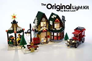 Brick Loot LED Lighting Kit for Lego Winter Village Post Office - 10222 - Custom Designed - Handmade - Durability Tested
