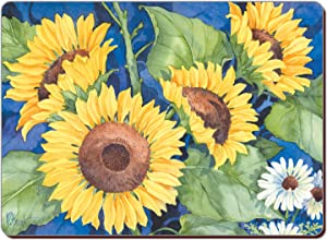 CounterArt Set of 2 Hardboard Placemats, Sunflowers