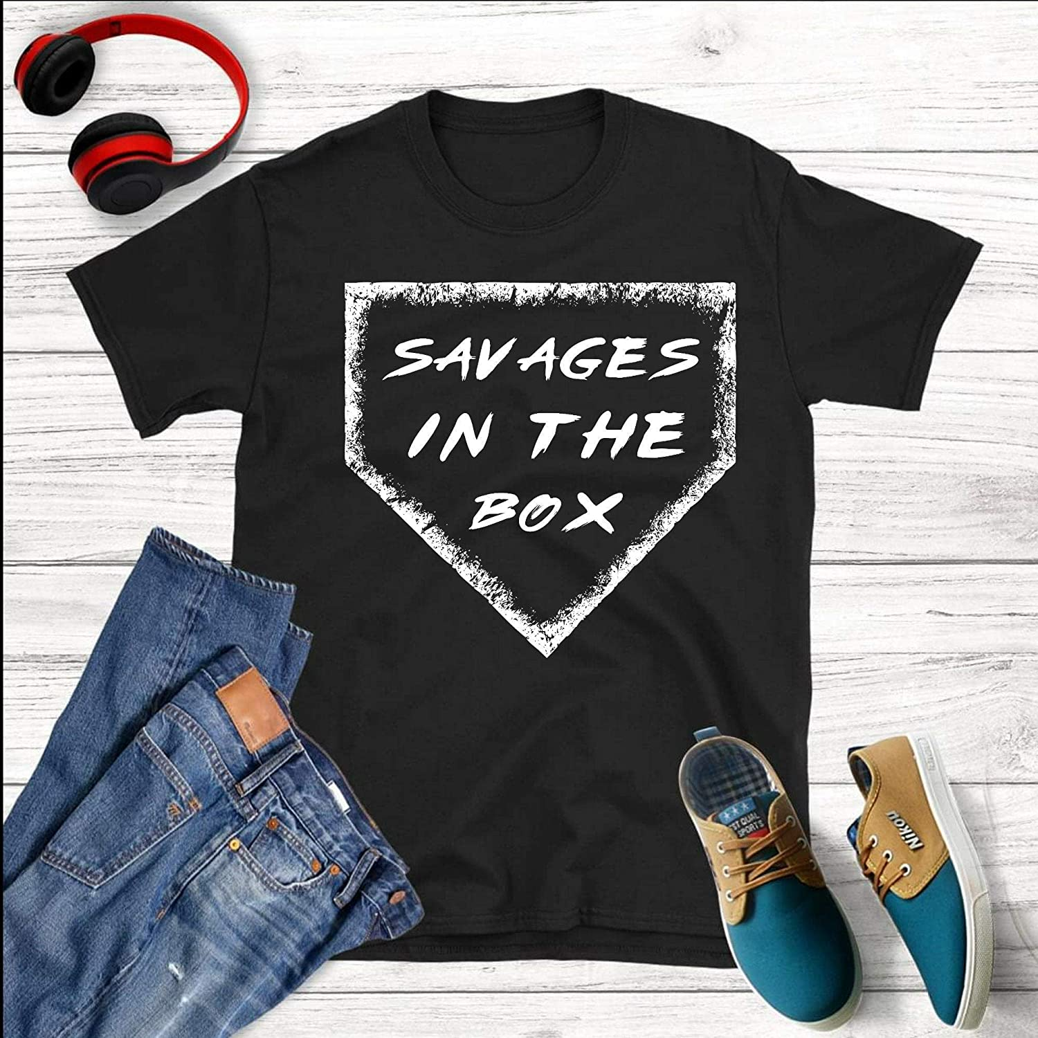 uk availability 733f0 5c2fc Amazon.com: Savages In The Box New York Yankees Pinstripe ...