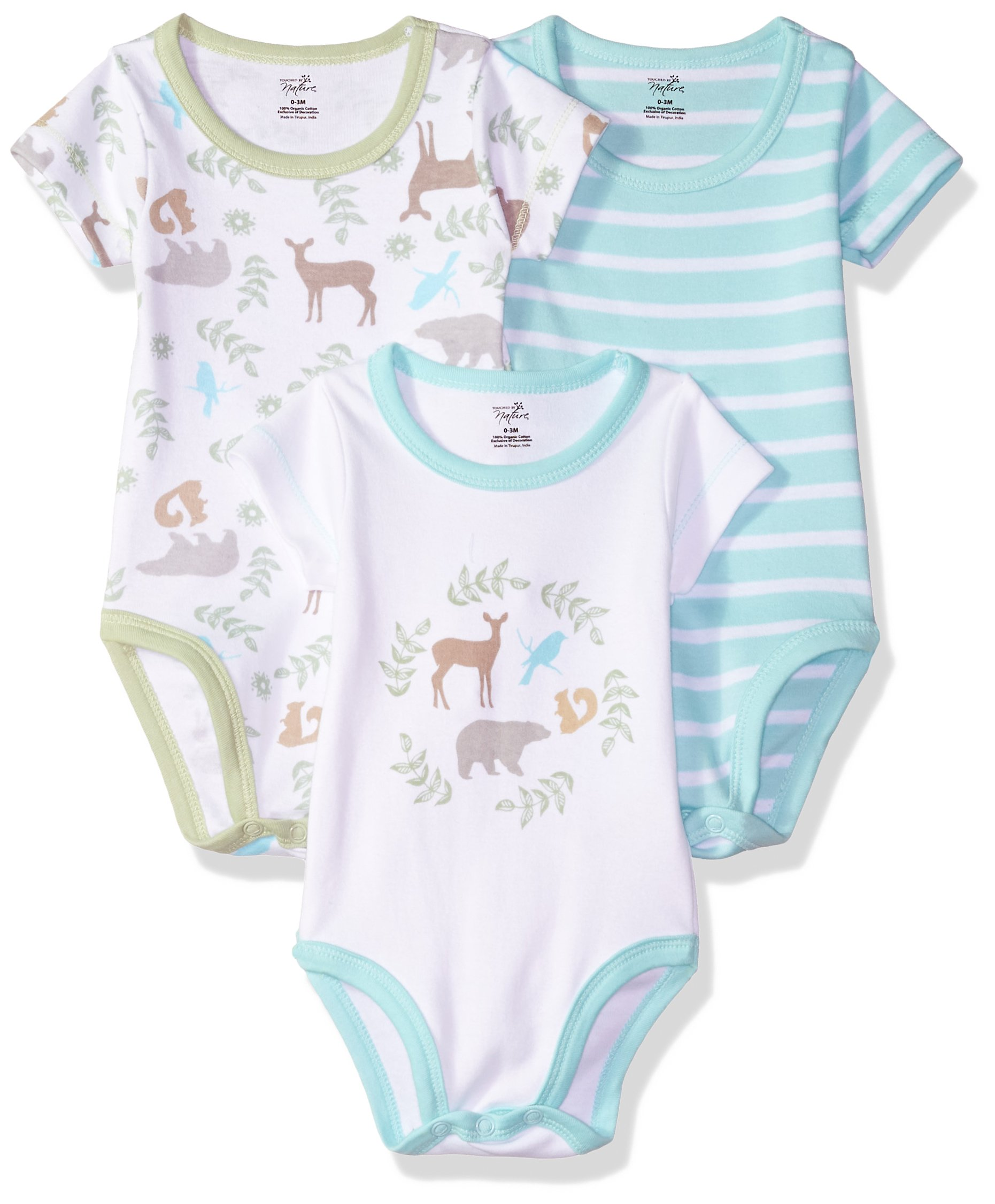Touched By Nature Baby Organic Cotton Bodysuits Baby Girls