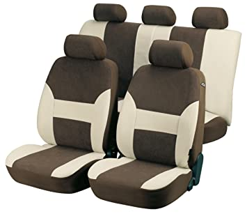 Walser AM12416 Car Seat Covers, Beige/Brown: Amazon.co.uk: Car ...
