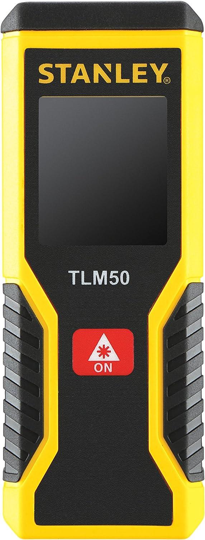 Stanley STHT1-77409 Medidor láser 15m-TLM50. Solo distancias, Amarillo, 15 m