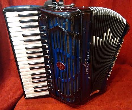 Nueva beltuna Piano acordeón líder V azul sombra compacto ...