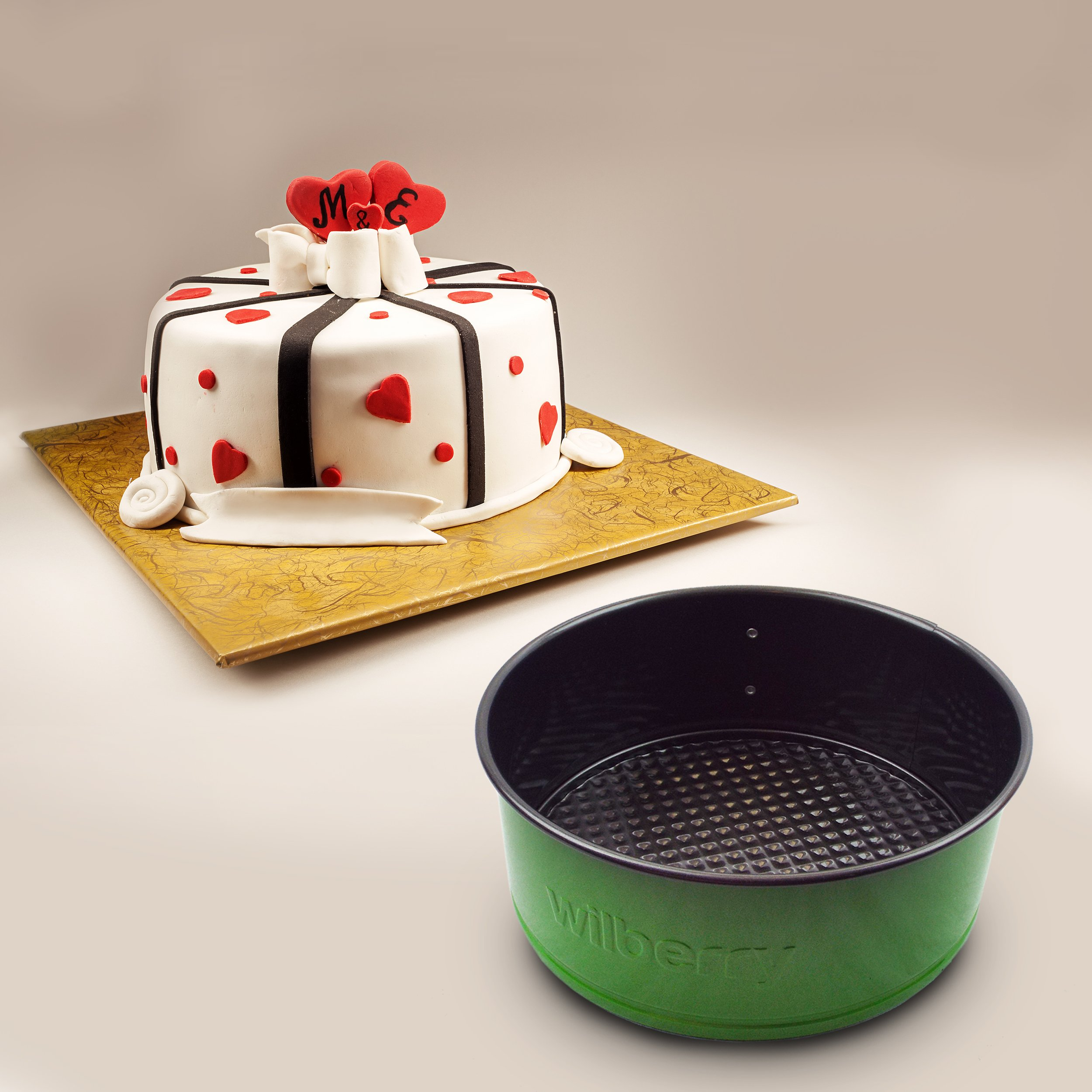 Springform Pans Set of 3   Two Round & One Heart-Shaped Cheesecake Pans   Leak Resistant & Top Rack Dishwasher Safe by Wilberry (Image #5)