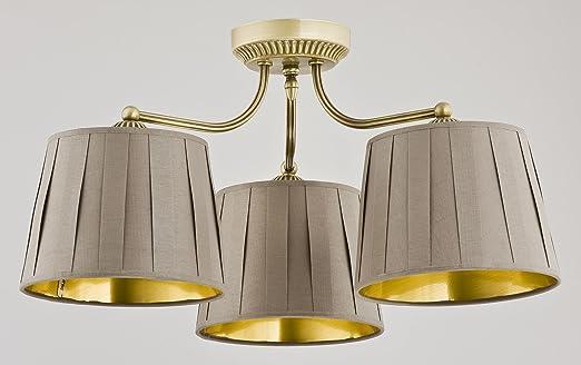 Elegante plafón b53 cm L53 cm clásico marrón oro falte ...