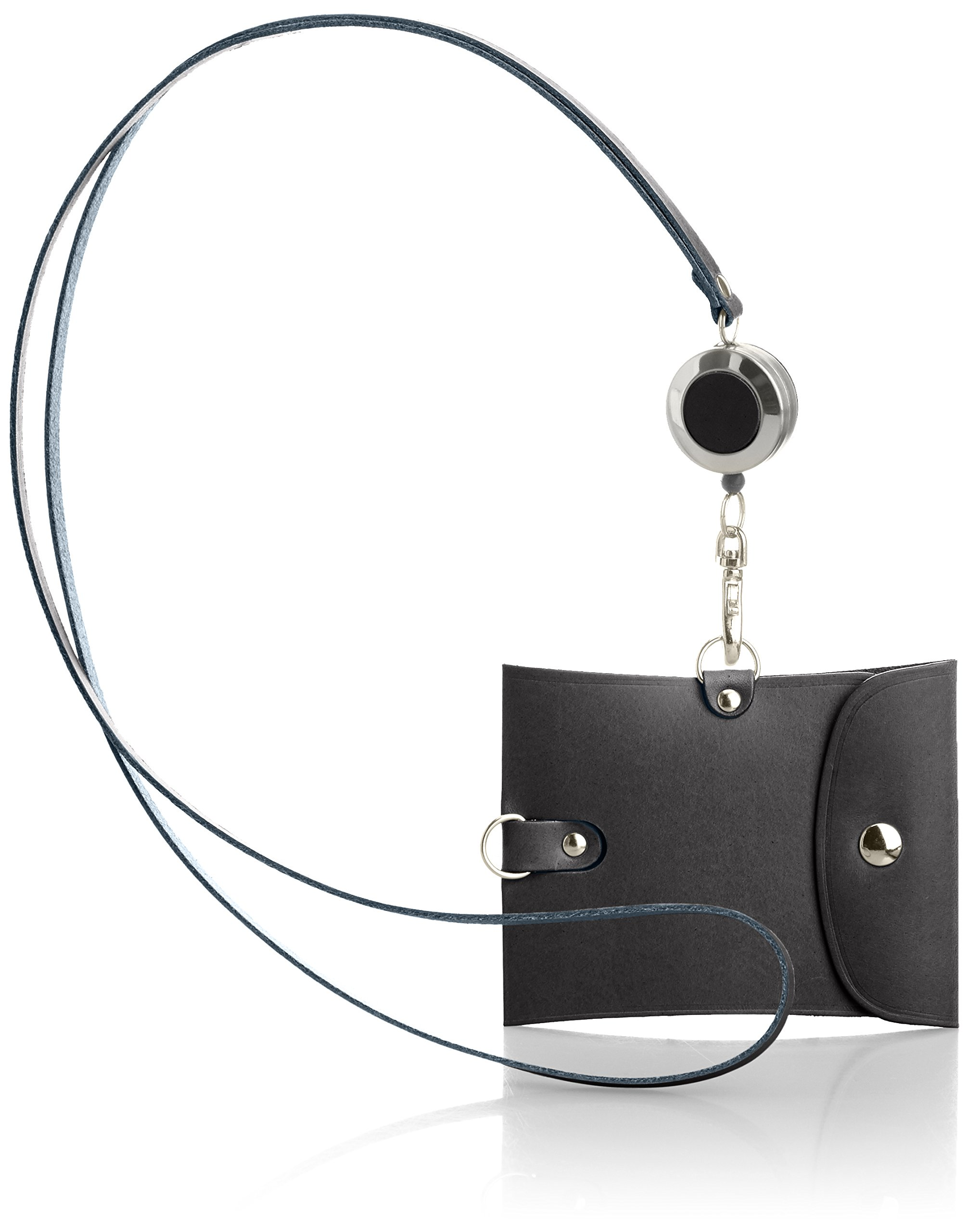 Vintage Revival Productions Pass Holder with reel 59218 Navy by Vintage Revival Productions