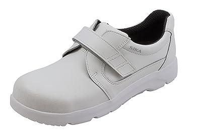 OptimaX Schuh mit Klettverschluss mit Stahlkappe weiß S2 + SRA + BGR 191