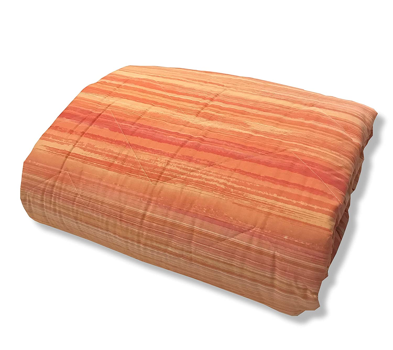 Trapuntino Copriletto Estivo Copridivano Giardino Tessuto 100/% Cotone Made in Italy Arancio, 1 Piazza e Mezza