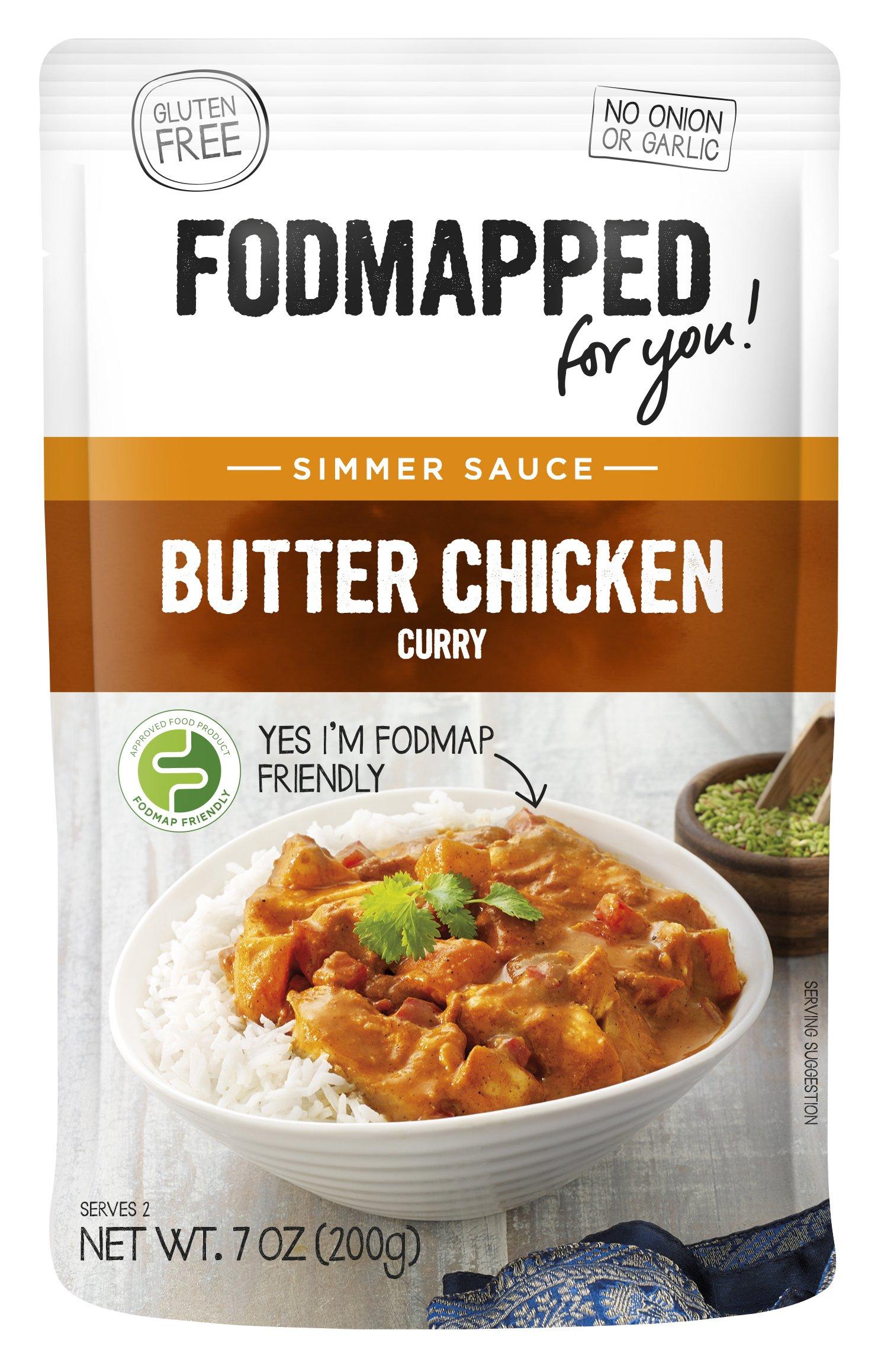 FODMAPPED - Low FODMAP Butter Chicken Simmer Sauce 7 OZ (200g)