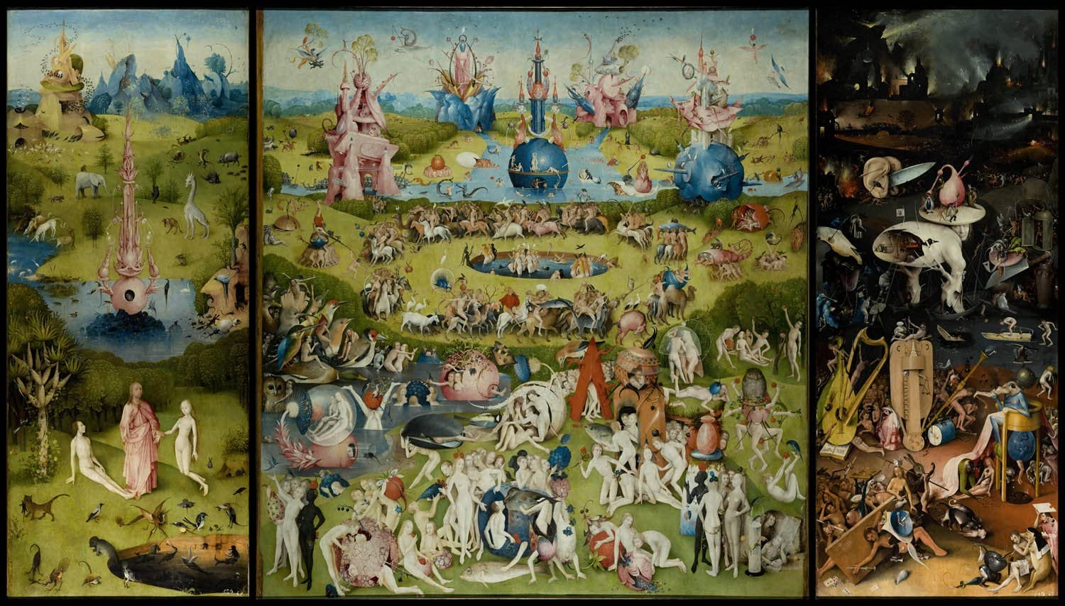 """VintPrint Paintings Poster - The Garden of Earthly Delights by Bosch (High Resolution), 24""""x41.5"""", Gloss Finish"""