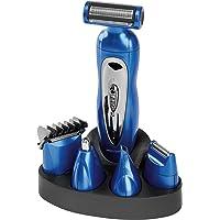 Proficare BHT 3015 - Set de Cortapelo, afeitadora corporal, recortador de precisión, cortador oido y nariz, batería recargable, azul