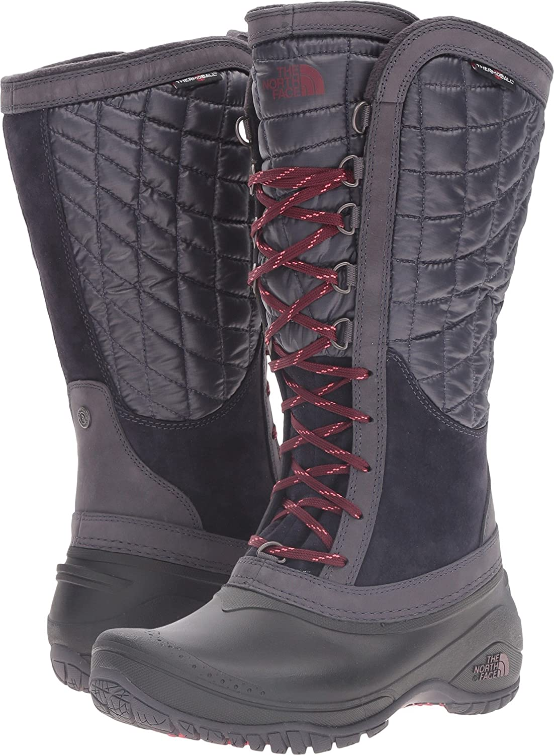 The North Face Thermoball Utility Boot Women's B018WTBSNI 9 B(M) US|Nine Iron Grey/Calypso Coral
