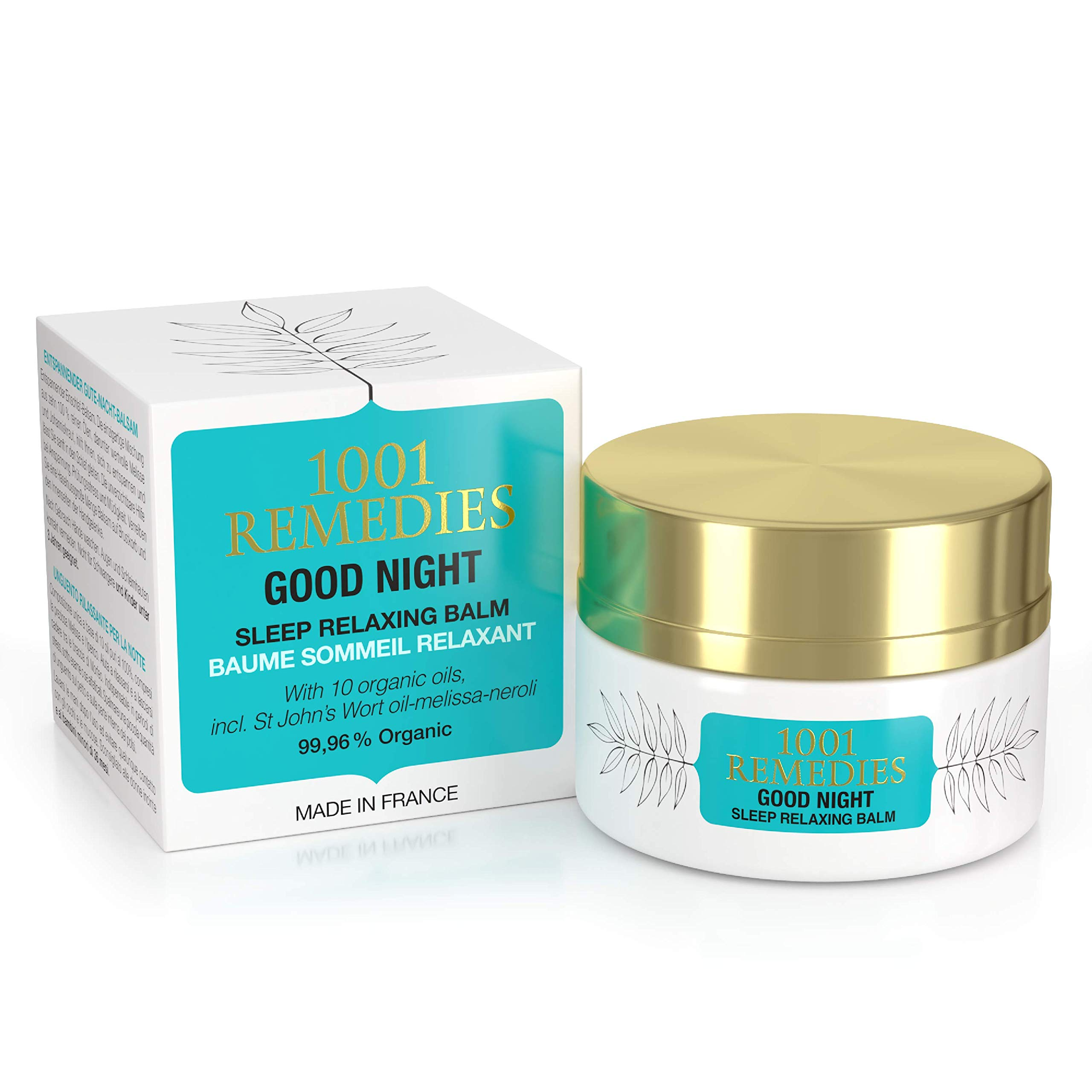 Sleep Balm by 1001 Remedies - Natural, Made in France Lavender Body Lotion, Sleep Aid Without Melatonin for Adults & Kids- Stress Relief Balm with Chamomile, St Johns Wort & Pure Essential Oils