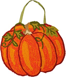 Evergreen Flag Beautiful Autumn Pumpkins Hooked Hanging Door Décor - 18 x 1 x 16 Inches Fade and Weather Resistant Outdoor Decoration for Homes, Yards and Gardens