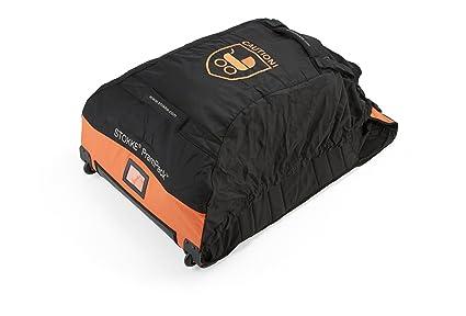 Stokke - Bolsa de viaje ® prampack negro/naranja