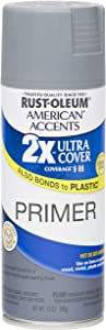 Rust Oleum 280704 American Accents Ultra Cover 2X Spray Paint,Gray Primer, 12-Ounce