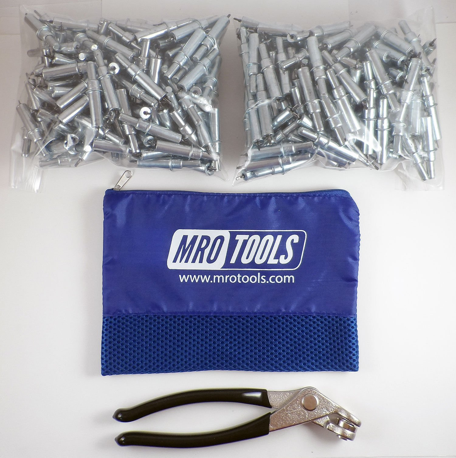 300 3/32 Cleco Sheet Metal Fasteners + Cleco Pliers w/Carry Bag (K1S300-3/32) by MRO Tools Cleco Fasteners