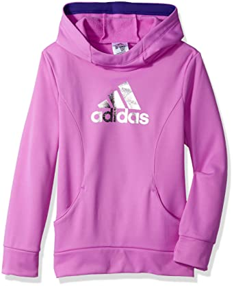 1a49be3cd Amazon.com: adidas Little Girls' Performance Hoodie: Clothing