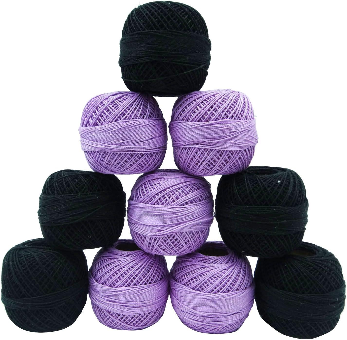 IBA Indianbeautifulart 10 Piezas Negro púrpura del Hilado del Hilo ...