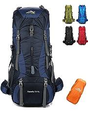onyorhan 70L+5L Backpack Travel Trekking Hiking Camping Climbing Mountaineering Rucksack for Men Women