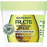 Garnier Fructis Smoothing Treat 1 Minute Hair Mask with Avocado Extract, 3.4 Ounce (Color: Treats, Tamaño: 3.4 Fl Oz)