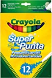 Crayola SuperTips Washable Felt Tip Colouring Pens, Pack of 12