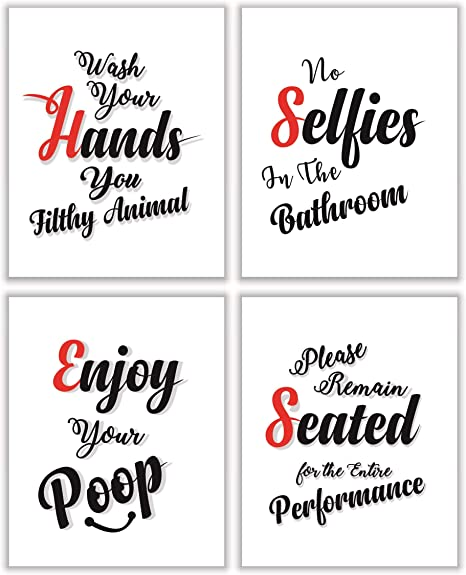 Parth Impex Bathroom Wall Decor Quotes And Saying Art Prints
