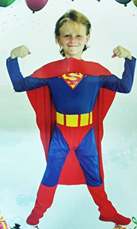 Takestop® Disfraz Carnaval Superman Superhéroe niño XL (130 – 140 ...