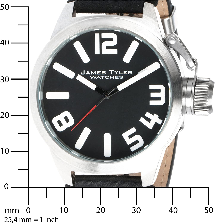 James Tyler Herren Armbanduhr Quarz Werk Edelstahl Gebürstet Jt702 1 Amazon De Uhren