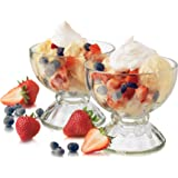 Libbey 6-Piece Fountain Shoppe Classic Sundae Glass, 18-Ounce, Clear