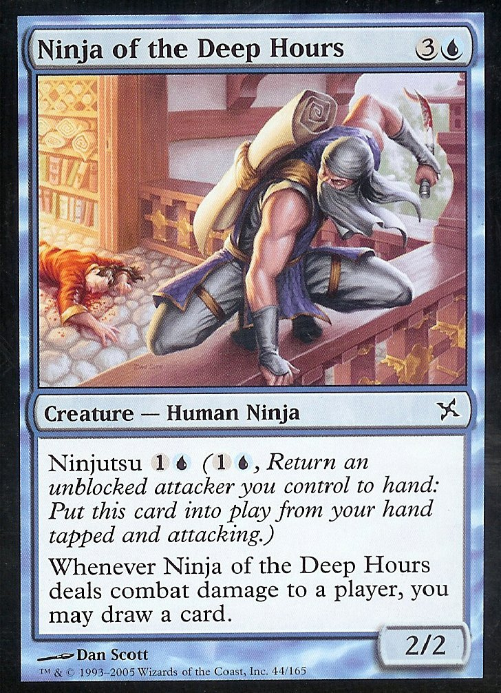 Magic: the Gathering - Ninja of The Deep Hours - Betrayers of Kamigawa - Foil
