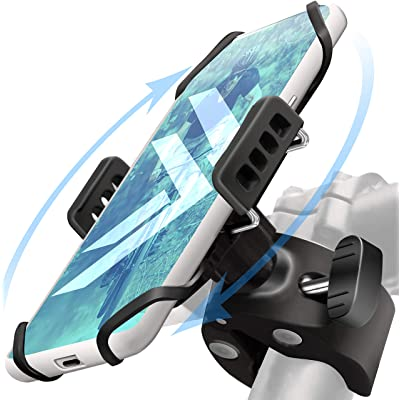 Bike Phone Mount Holder: Best Universal Handlebar Cradle for All Cell Phones & Bikes. Clamp Fits Road Motorcycle & Mountain Bicycle Handlebars. Cycling Accessories for iPhone X 8 7 6 Plus Galaxy ETC.: Sports & Outdoors