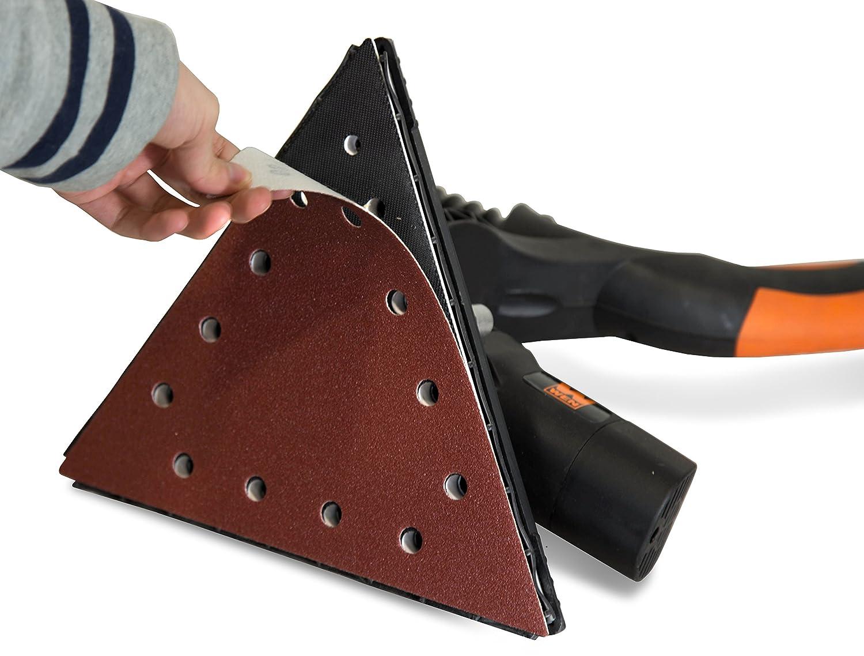 10 Pack WEN 6377SP120 Drywall Sander 120-Grit Hook /& Loop 11-1//4 Triangle Sandpaper